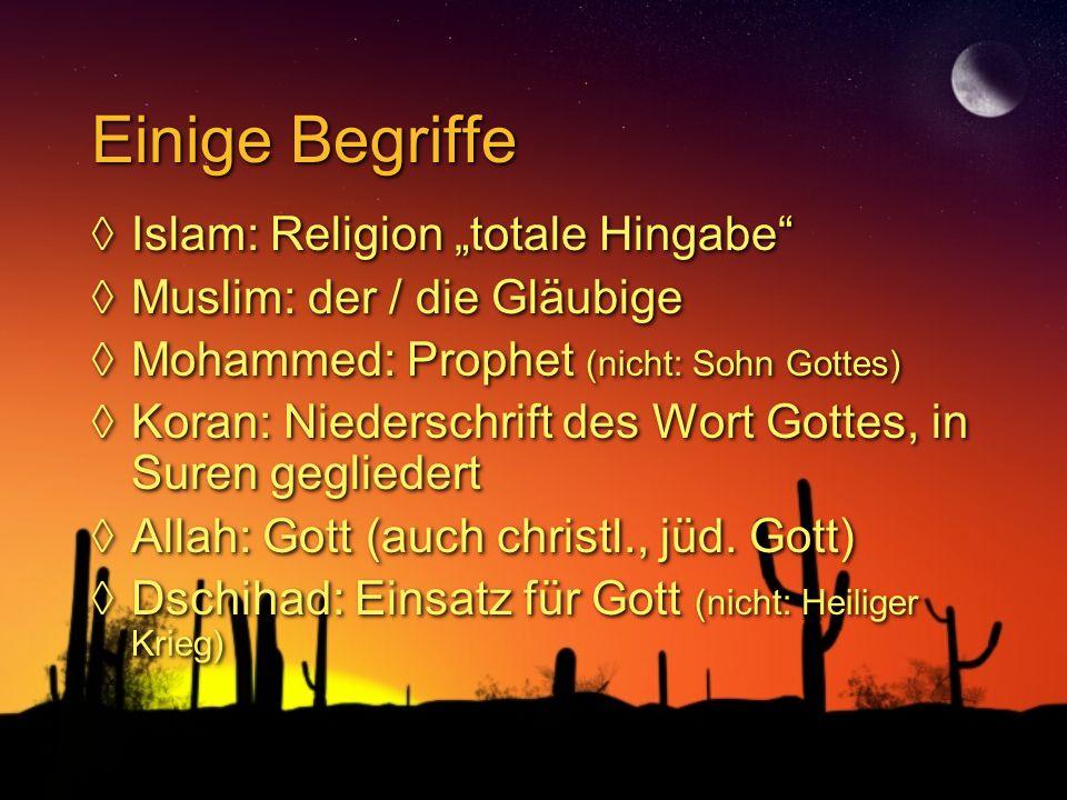"Einige Begriffe Islam: Religion ""totale Hingabe"