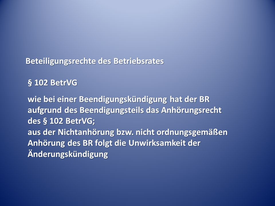 Beteiligungsrechte des Betriebsrates