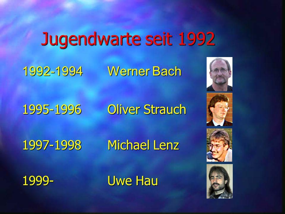 Jugendwarte seit 1992 1992-1994 Werner Bach 1995-1996 Oliver Strauch
