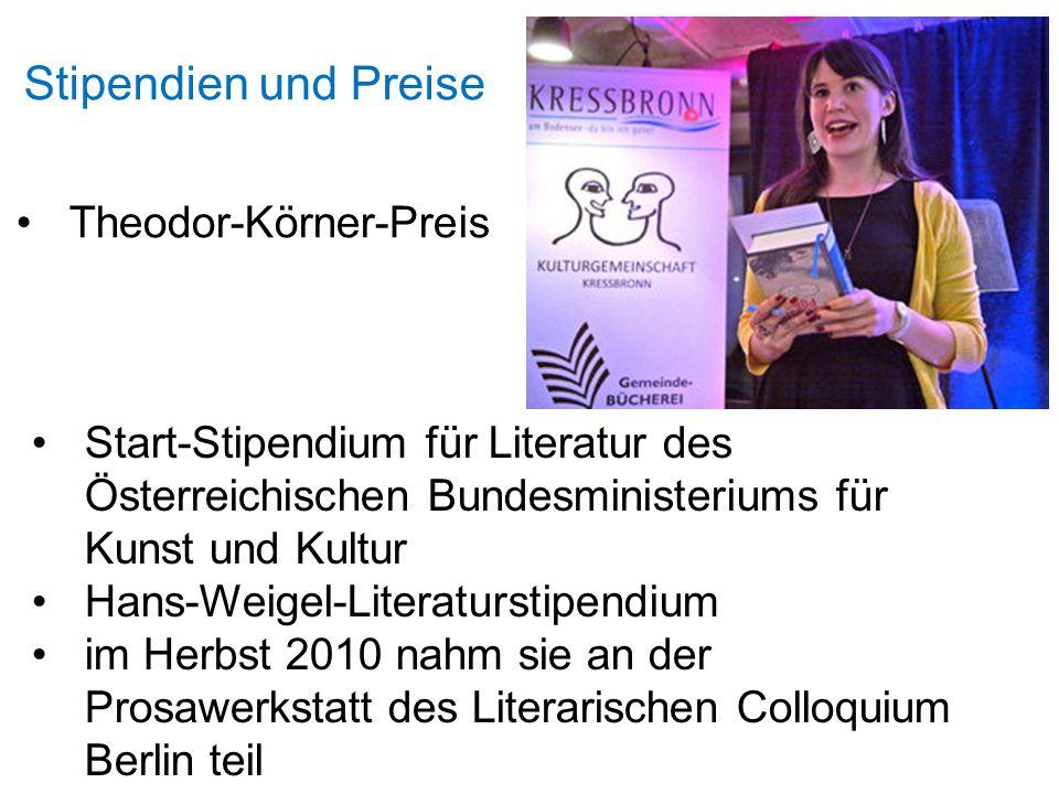 Stipendien und Preise Theodor-Körner-Preis