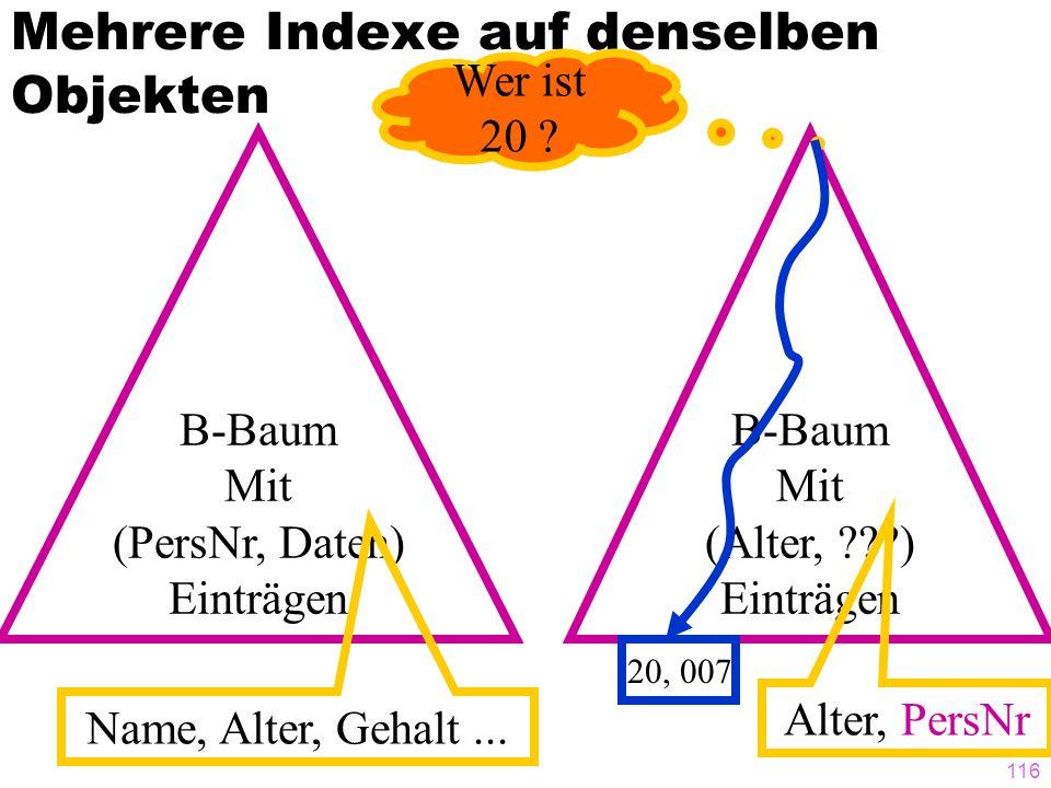 Mehrere Indexe auf denselben Objekten