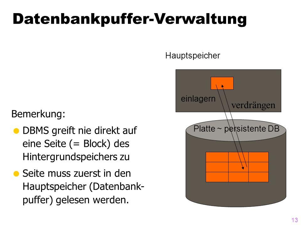 Datenbankpuffer-Verwaltung