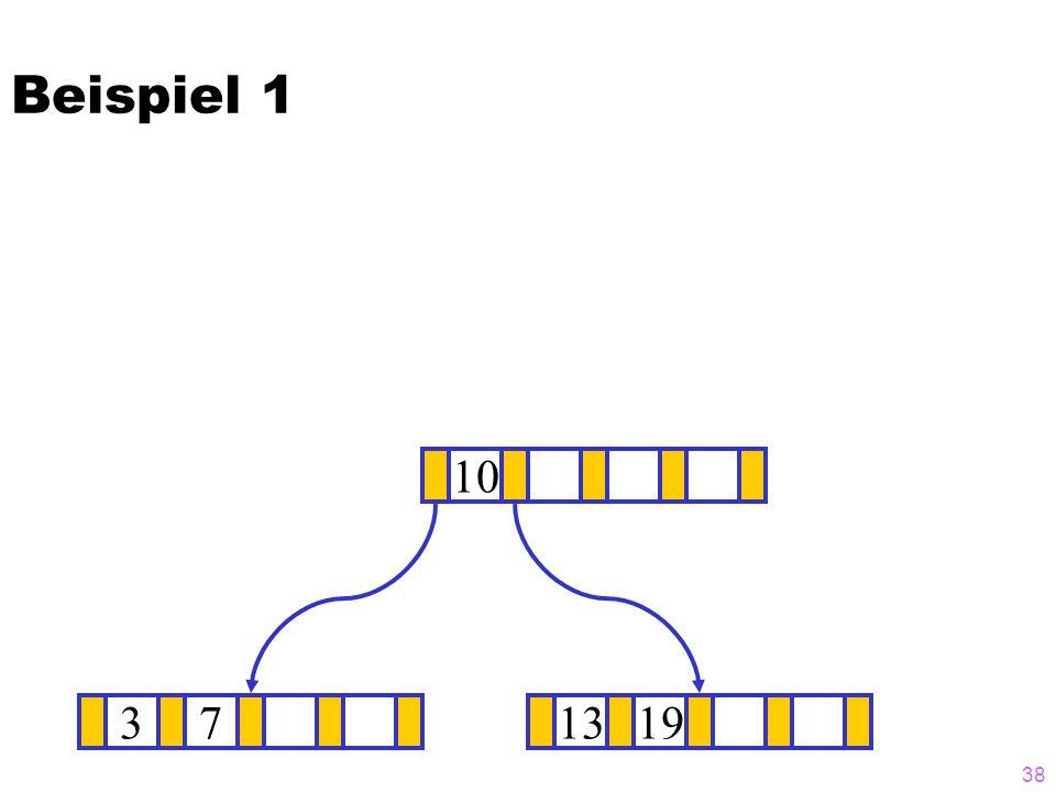 Beispiel 1 10 3 7 13 19