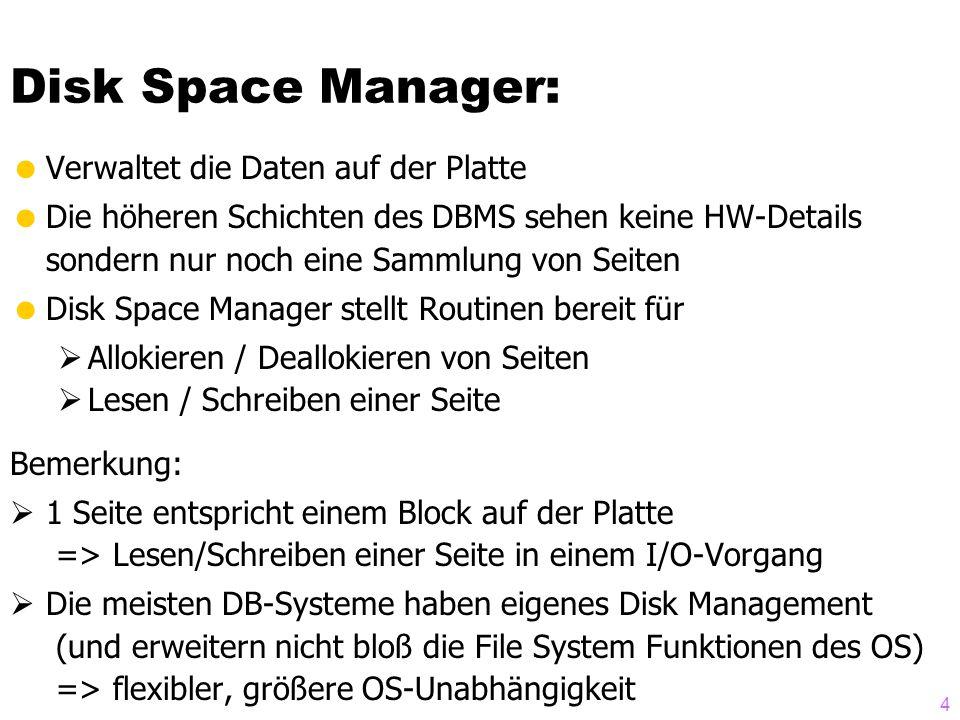 Disk Space Manager: Verwaltet die Daten auf der Platte