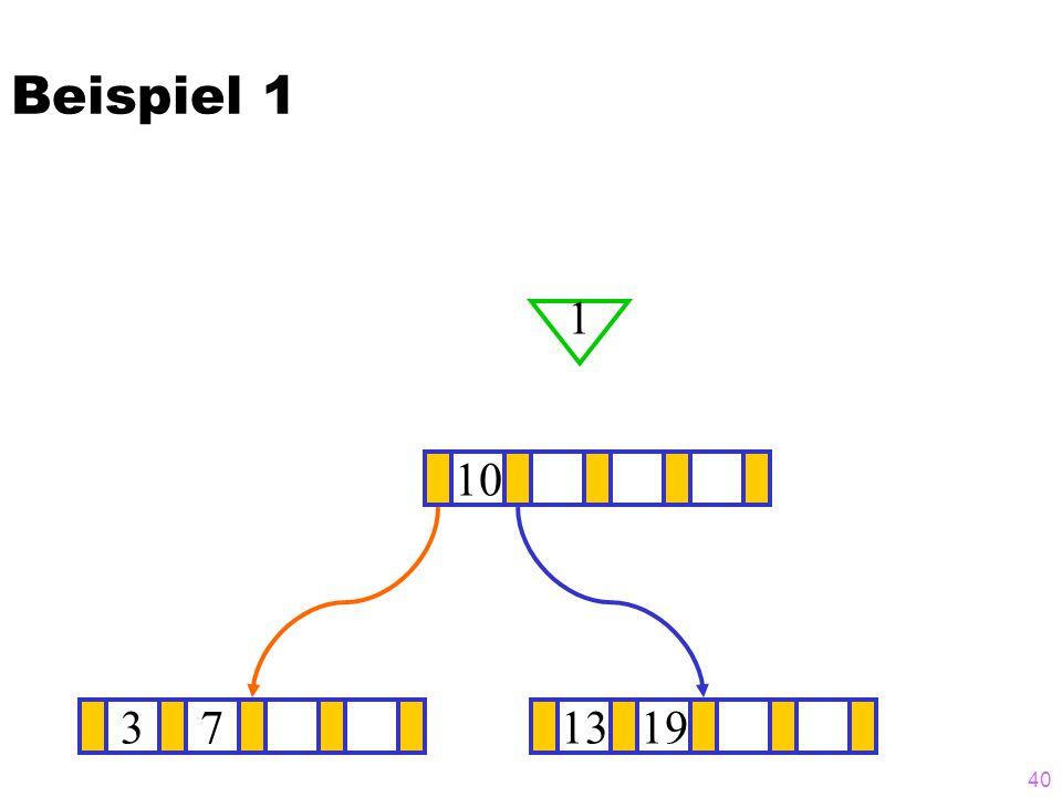 Beispiel 1 1 10 3 7 13 19