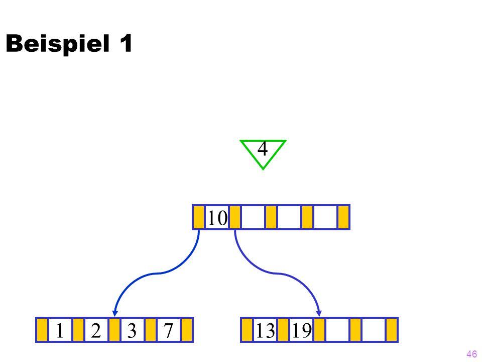 Beispiel 1 4 10 1 2 3 7 13 19