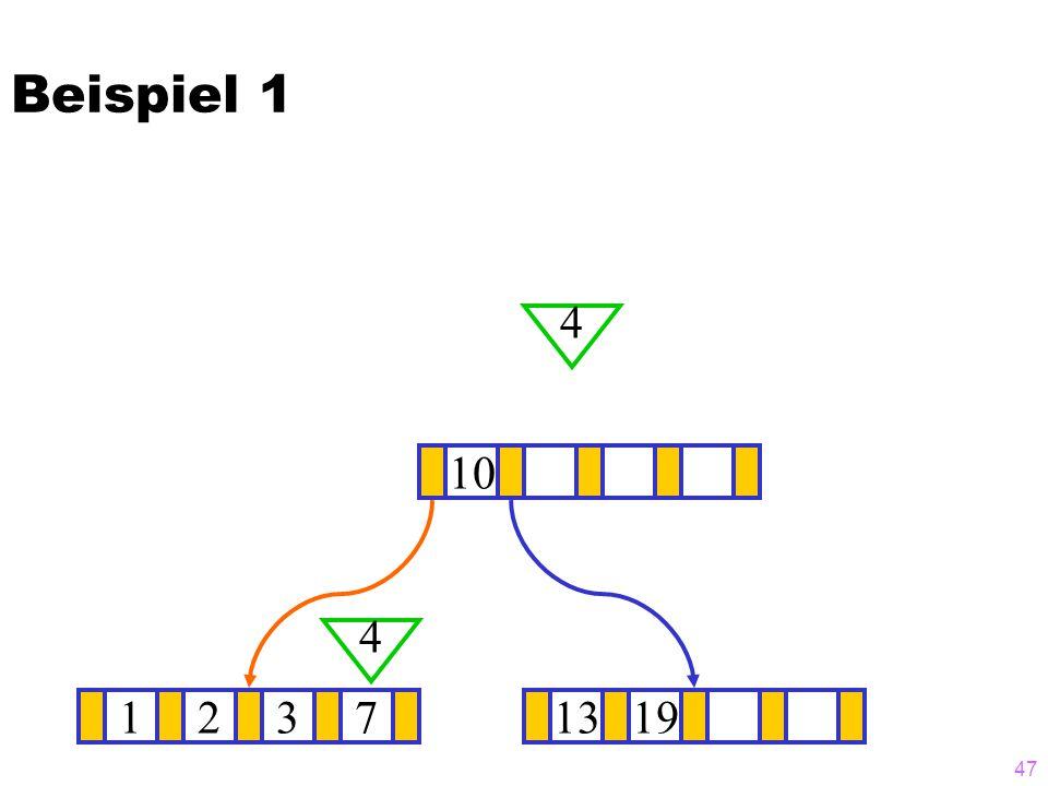 Beispiel 1 4 10 4 1 2 3 7 13 19