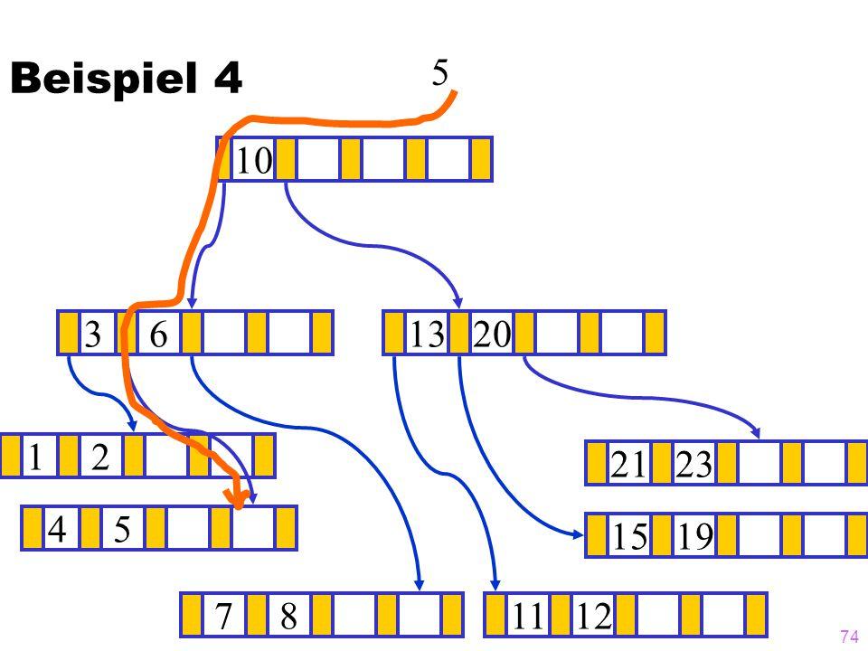 Beispiel 4 5 10 3 6 13 20 1 2 21 23 4 5 15 19 7 8 11 12