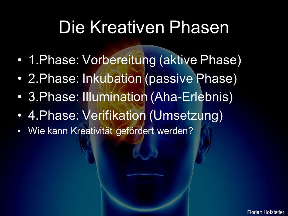 Die Kreativen Phasen 1.Phase: Vorbereitung (aktive Phase)