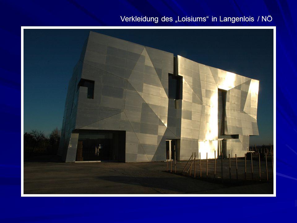 """Verkleidung des """"Loisiums in Langenlois / NÖ"""