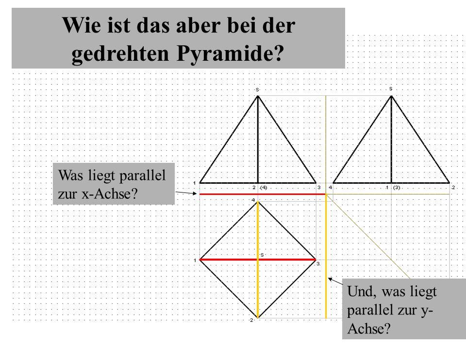 Wie ist das aber bei der gedrehten Pyramide