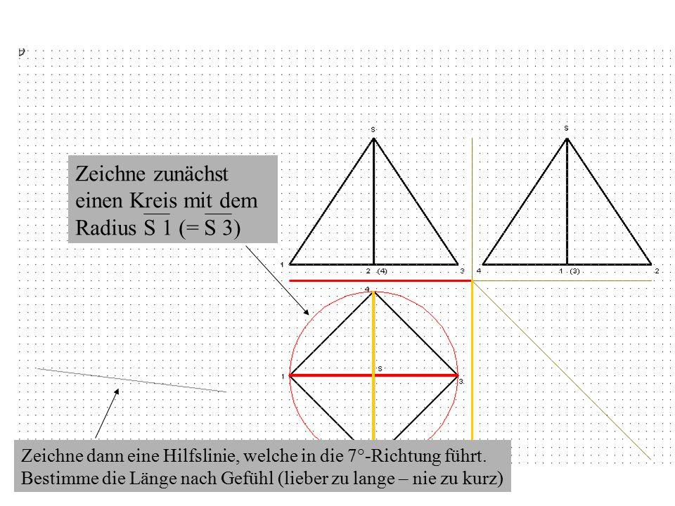 Zeichne zunächst einen Kreis mit dem Radius S 1 (= S 3)