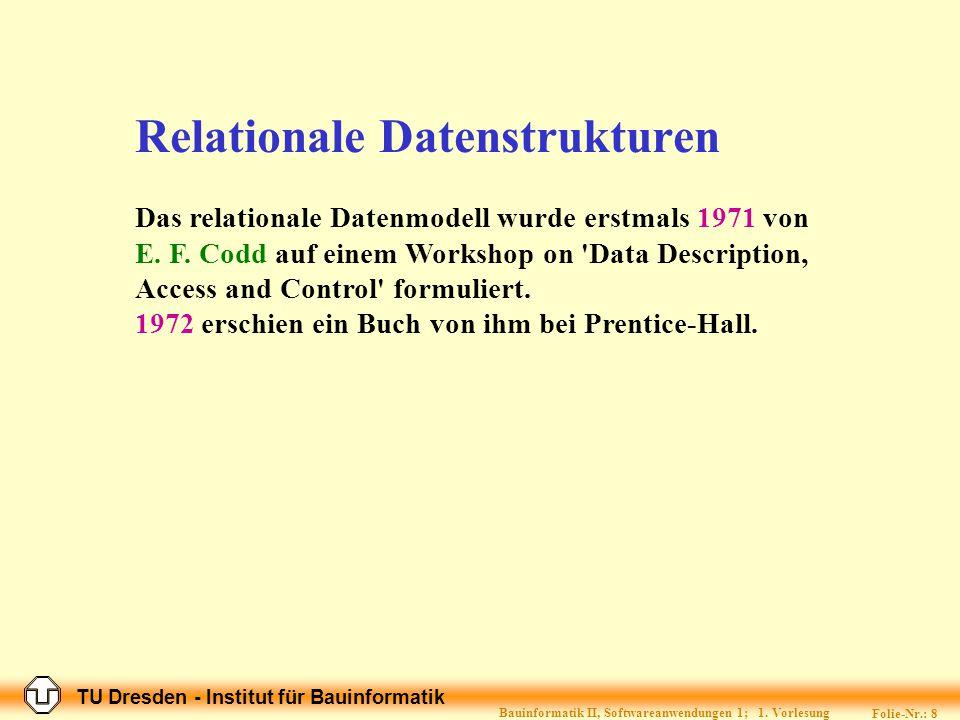 Relationale Datenstrukturen