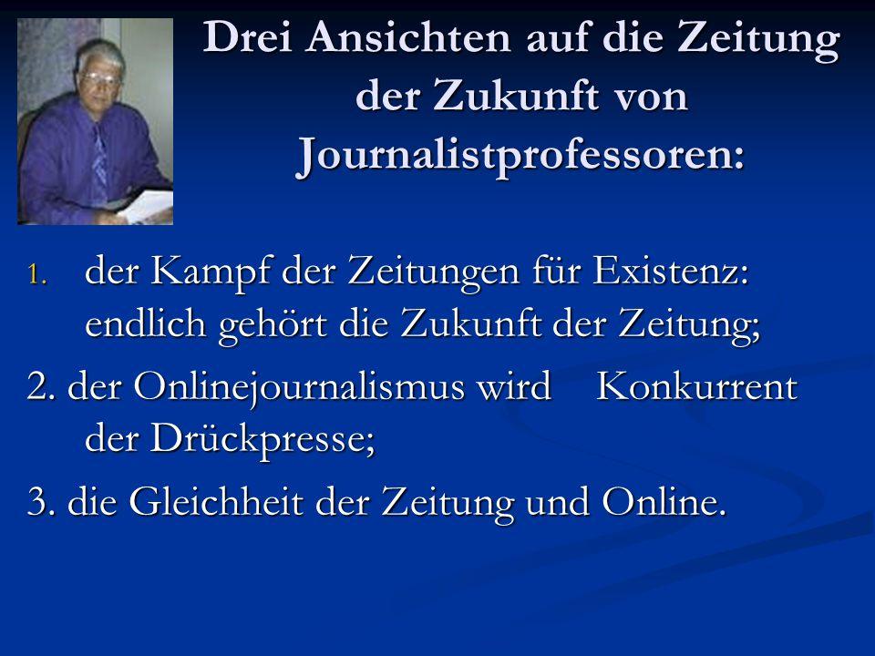 Drei Ansichten auf die Zeitung der Zukunft von Journalistprofessoren: