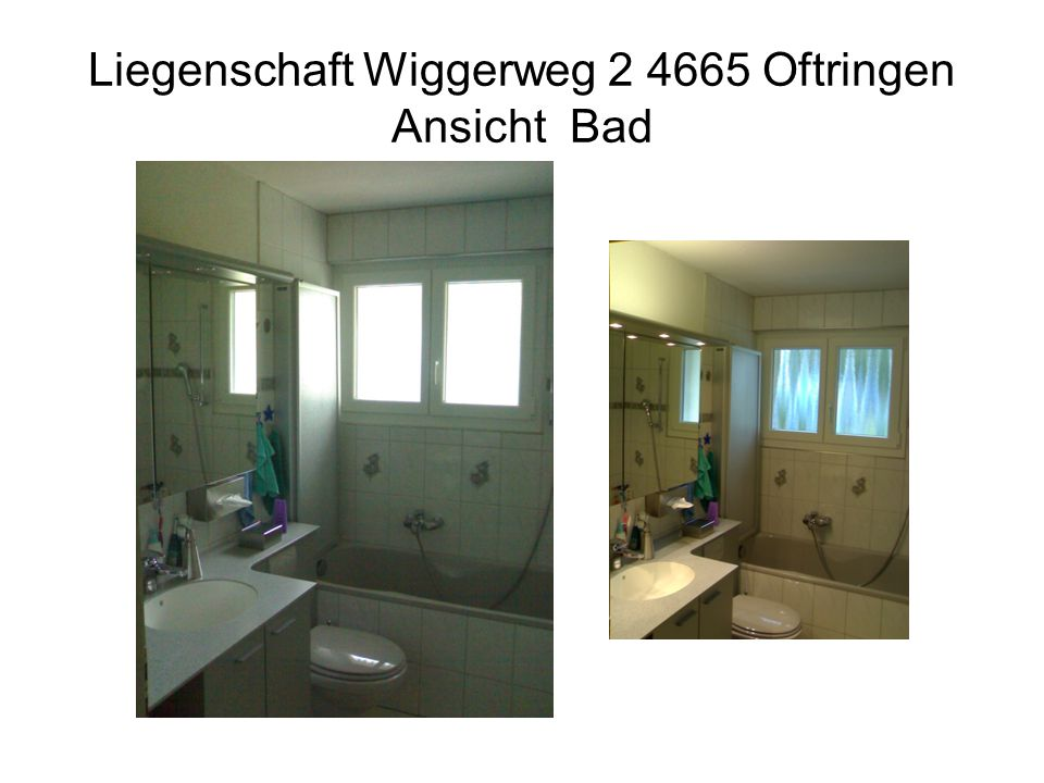 Liegenschaft Wiggerweg 2 4665 Oftringen Ansicht Bad