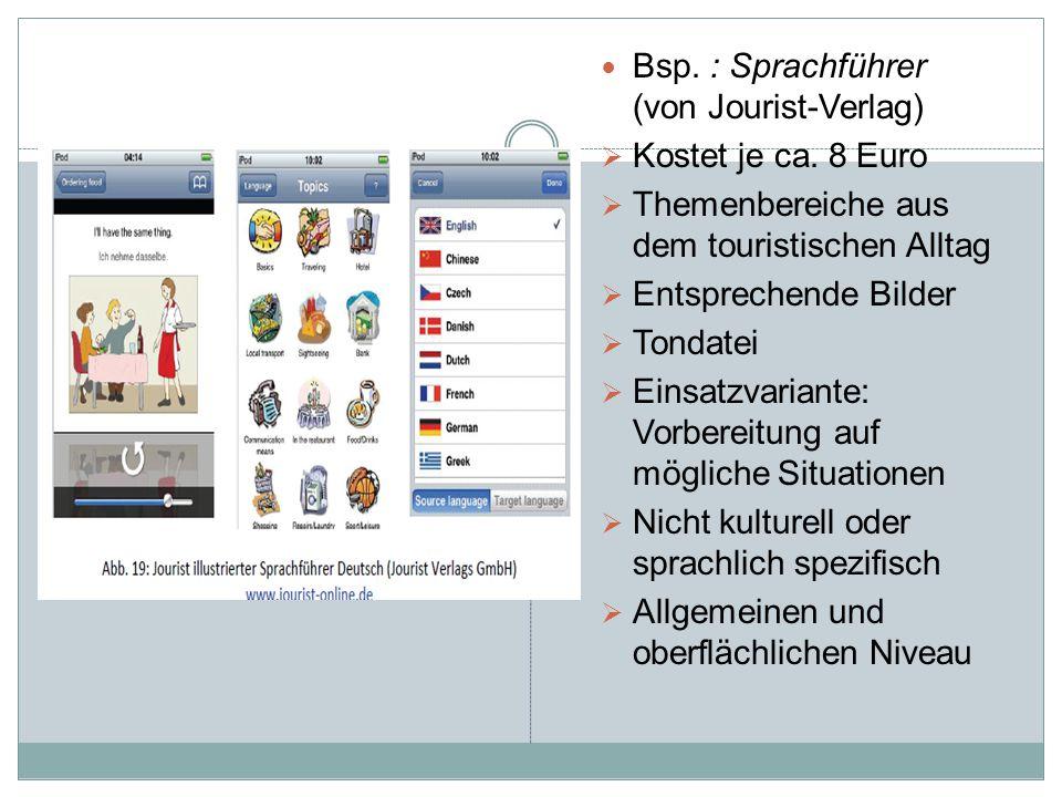 Bsp. : Sprachführer (von Jourist-Verlag)