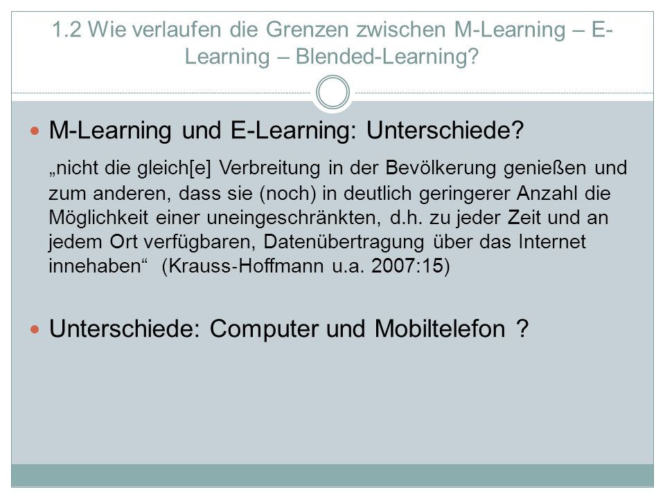 M-Learning und E-Learning: Unterschiede