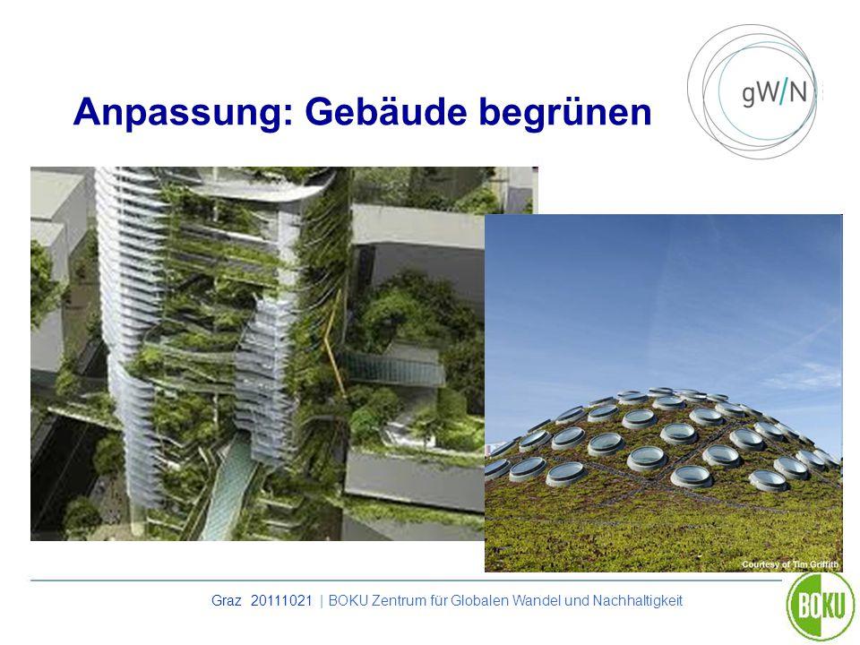Anpassung: Gebäude begrünen