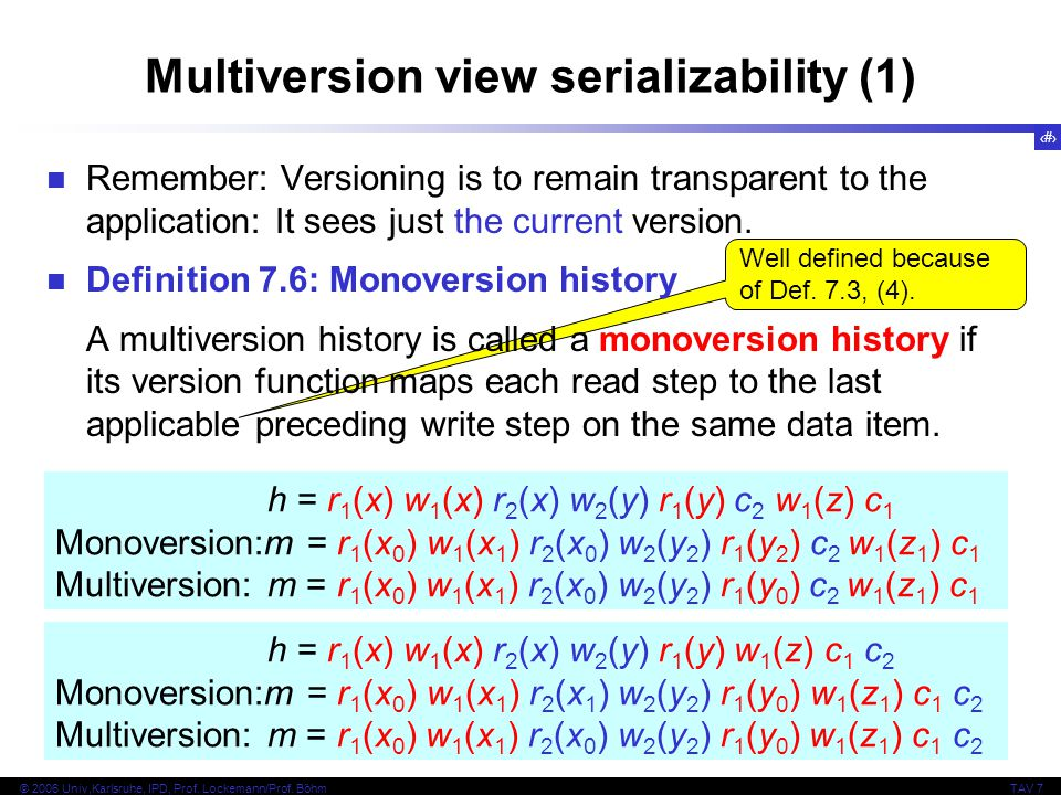 Multiversion view serializability (1)