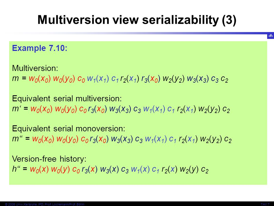 Multiversion view serializability (3)