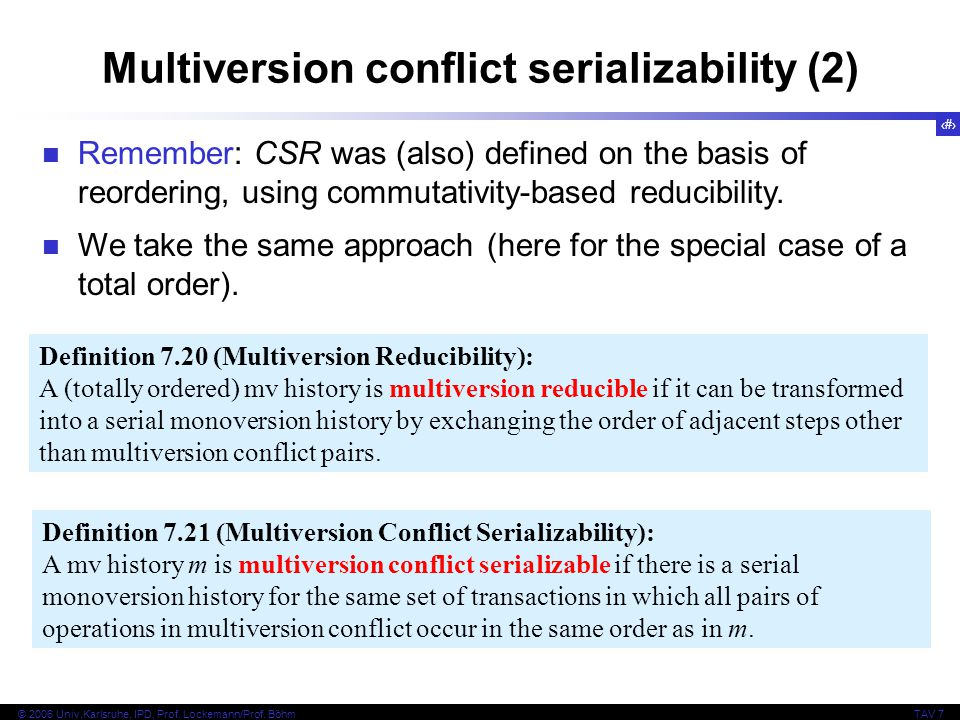 Multiversion conflict serializability (2)