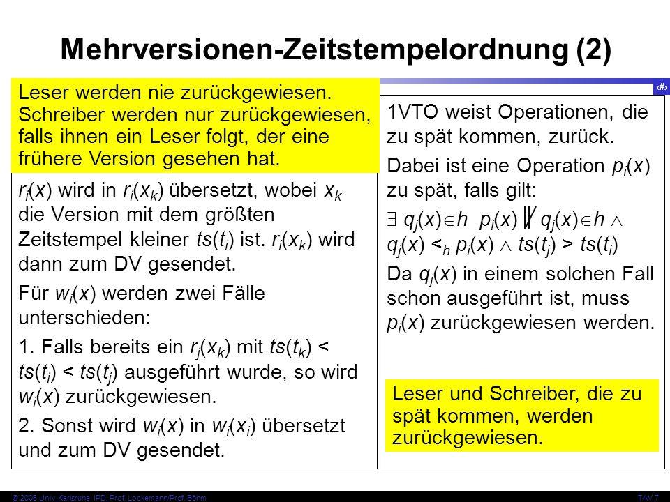 Mehrversionen-Zeitstempelordnung (2)