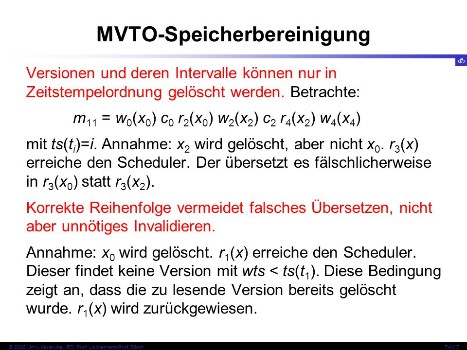 MVTO-Speicherbereinigung