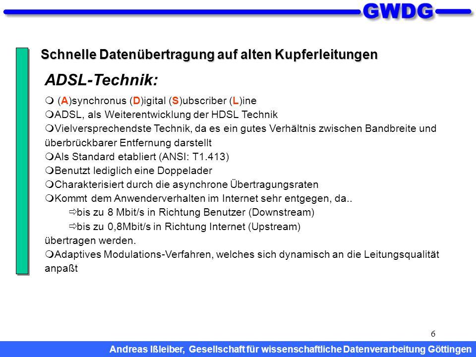 ADSL-Technik: Schnelle Datenübertragung auf alten Kupferleitungen