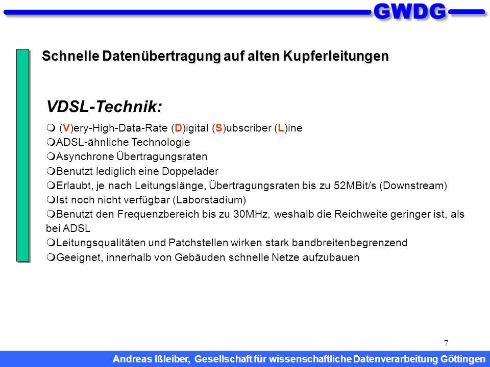 VDSL-Technik: Schnelle Datenübertragung auf alten Kupferleitungen