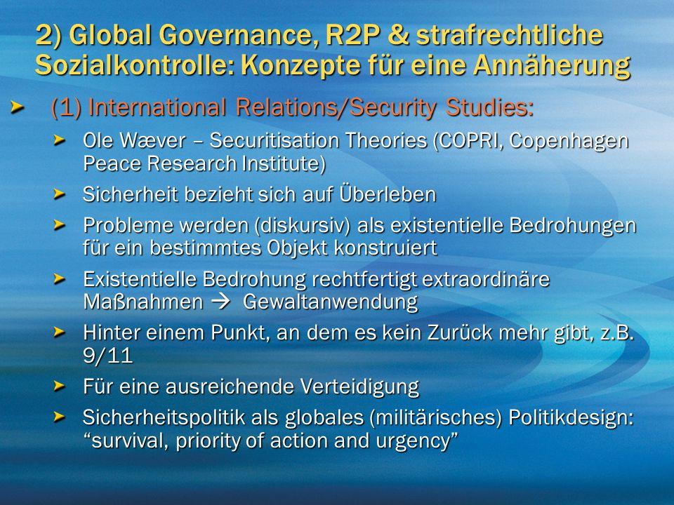 2) Global Governance, R2P & strafrechtliche Sozialkontrolle: Konzepte für eine Annäherung