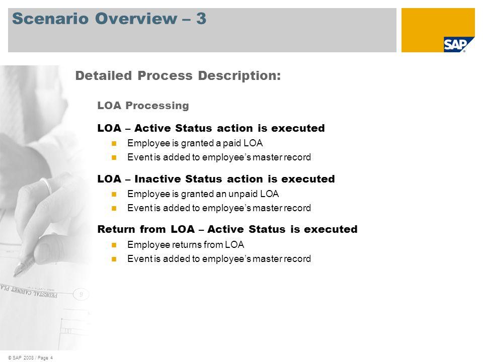 Scenario Overview – 3 Detailed Process Description: LOA Processing