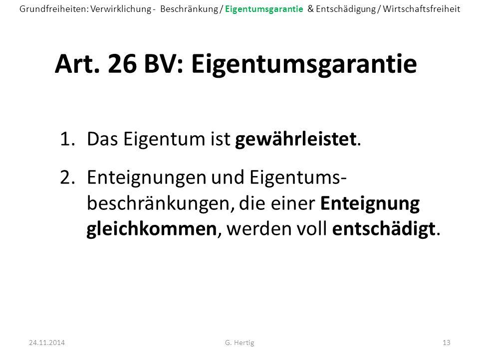 Art. 26 BV: Eigentumsgarantie