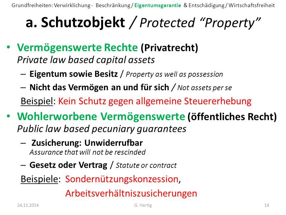 a. Schutzobjekt / Protected Property