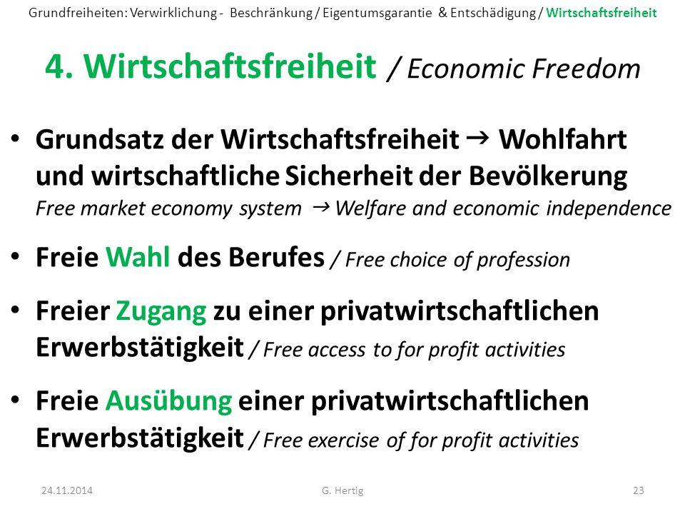 4. Wirtschaftsfreiheit / Economic Freedom