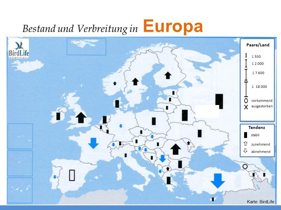 Bestand und Verbreitung in Europa