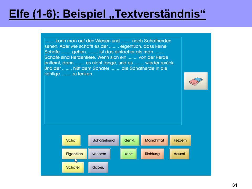 """Elfe (1-6): Beispiel """"Textverständnis"""