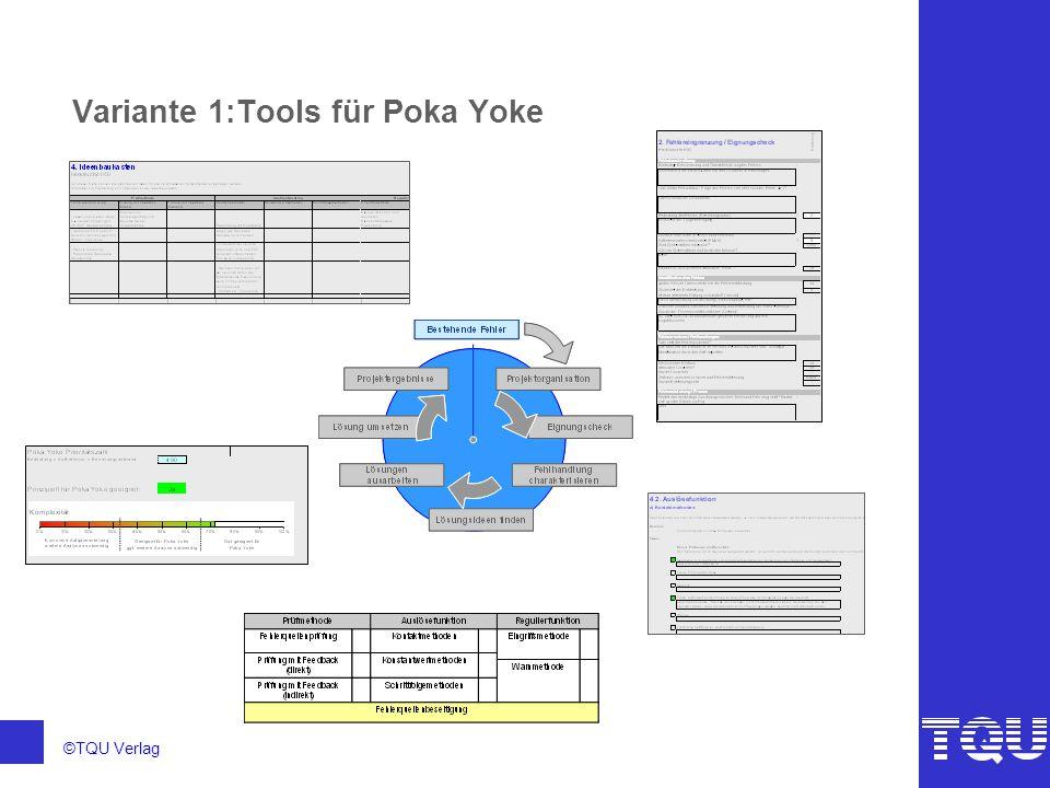 Variante 1:Tools für Poka Yoke