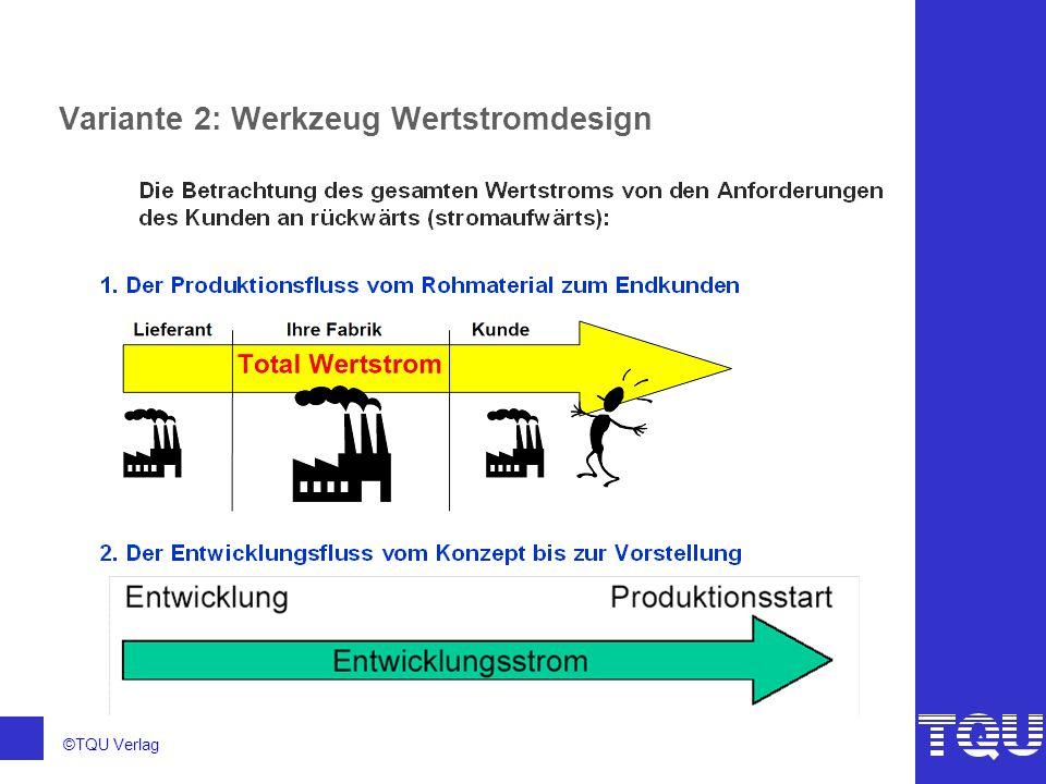 Variante 2: Werkzeug Wertstromdesign