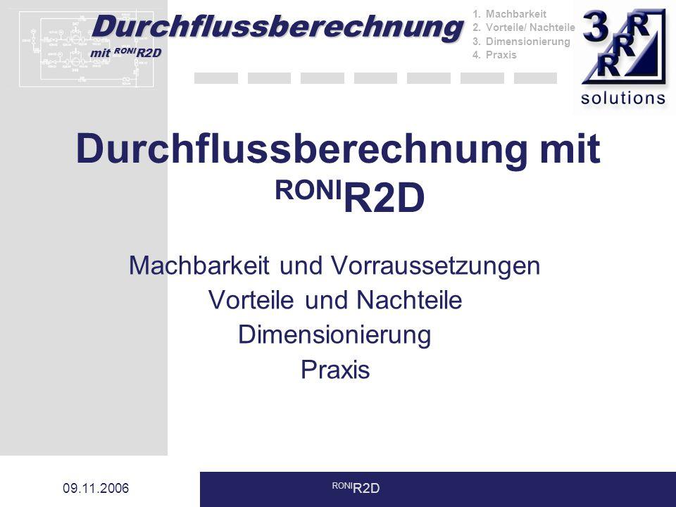 Durchflussberechnung mit RONIR2D