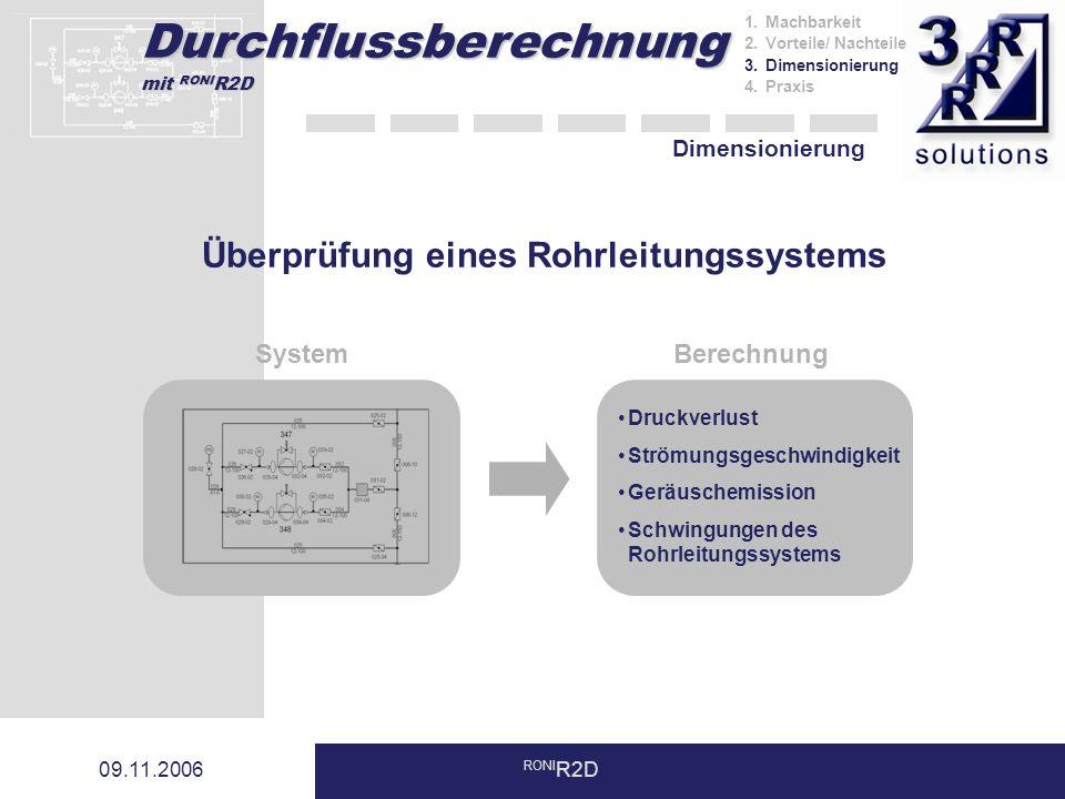 Überprüfung eines Rohrleitungssystems