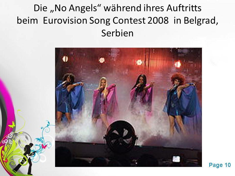 """Die """"No Angels während ihres Auftritts"""