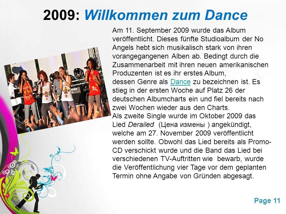 2009: Willkommen zum Dance