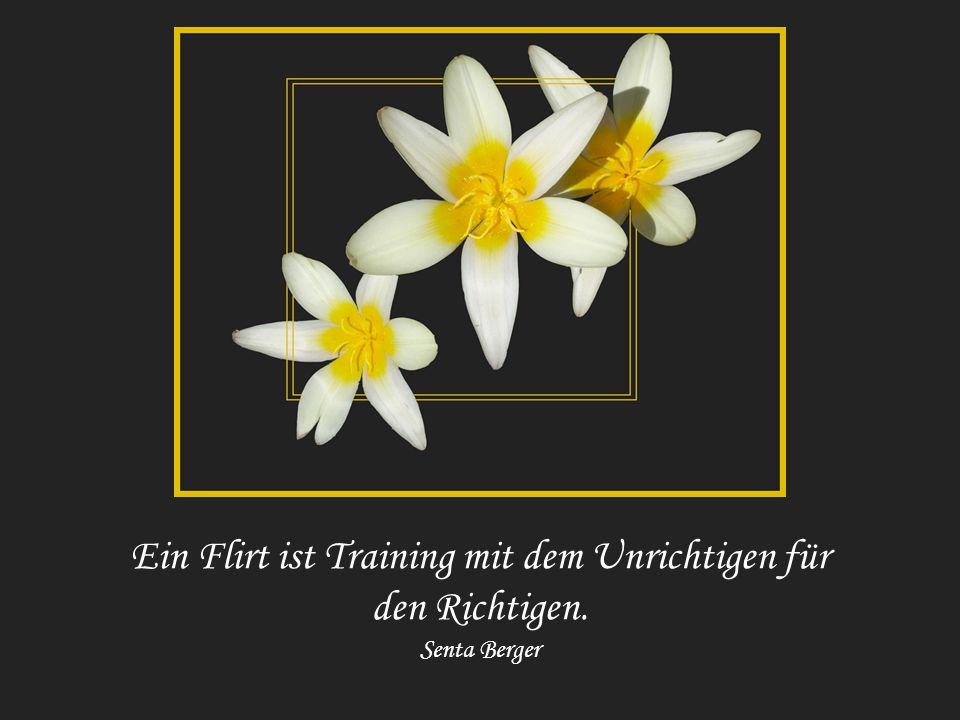 Ein Flirt ist Training mit dem Unrichtigen für den Richtigen.