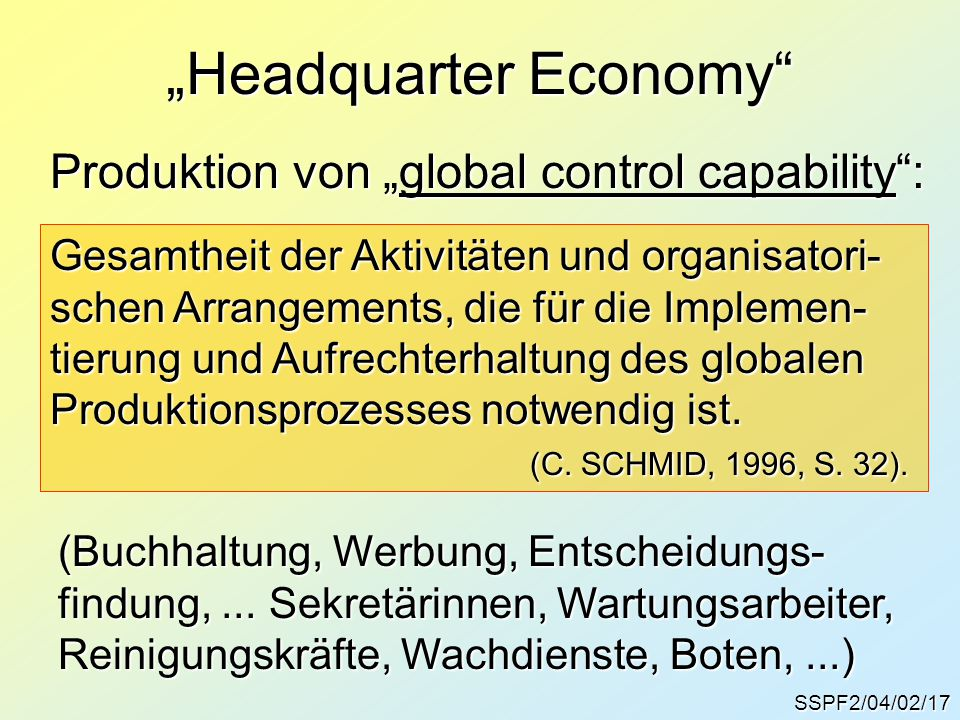 """Headquarter Economy"