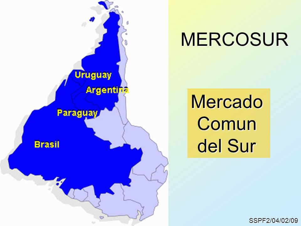 MERCOSUR Mercado Comun del Sur SSPF2/04/02/09