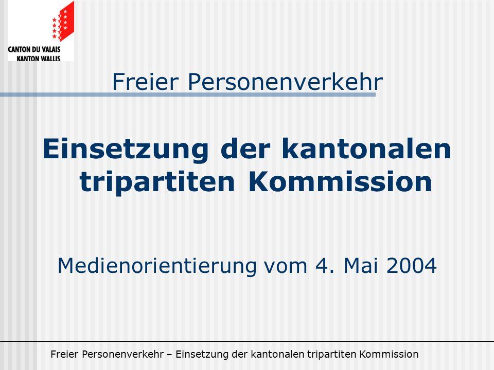 Einsetzung der kantonalen tripartiten Kommission
