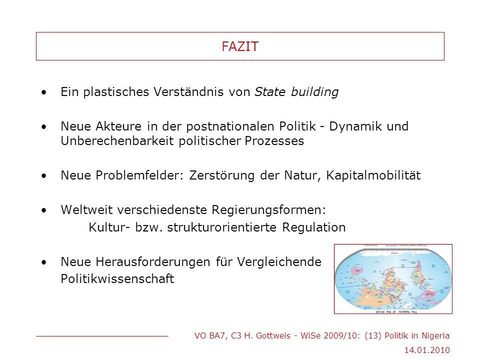 FAZIT Ein plastisches Verständnis von State building