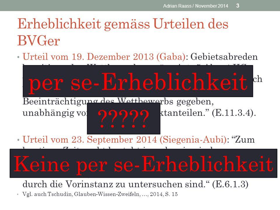 Erheblichkeit gemäss Urteilen des BVGer