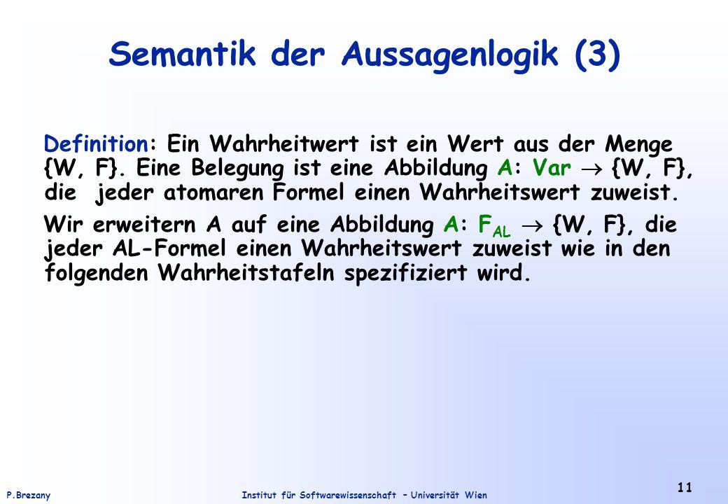 Semantik der Aussagenlogik (3)