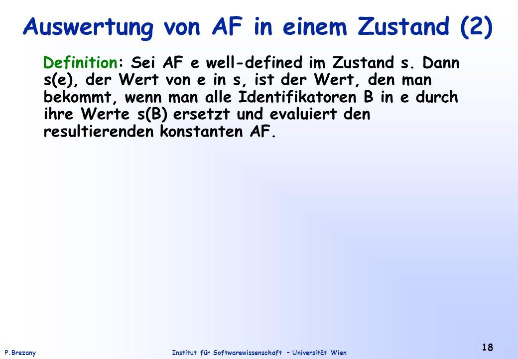 Auswertung von AF in einem Zustand (2)